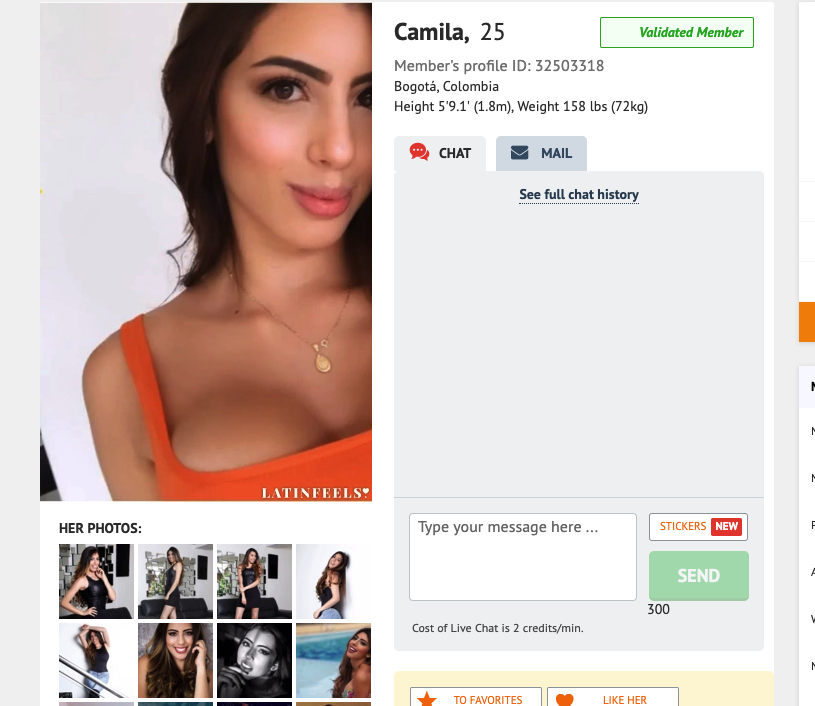 latinfeels girl profile